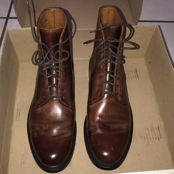 Frye Men's Jones Lace up brown boots